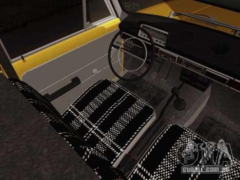 VAZ 2101 de Captação de para GTA San Andreas vista interior
