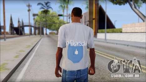 The Likersable T-Shirt para GTA San Andreas segunda tela