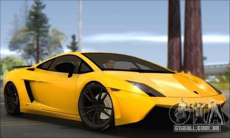 Lamborghini Gallardo LP570 Superleggera para GTA San Andreas vista direita