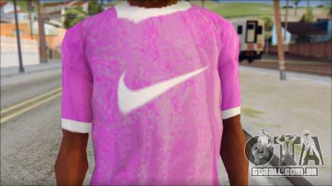 NIKE Pink T-Shirt para GTA San Andreas terceira tela