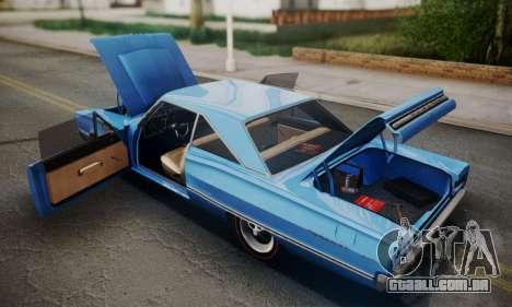 Dodge Coronet 440 Hardtop Coupe (WH23) 1967 para GTA San Andreas vista interior