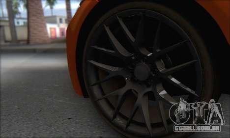 BMW M3 E92 Soft Tuning para GTA San Andreas vista traseira