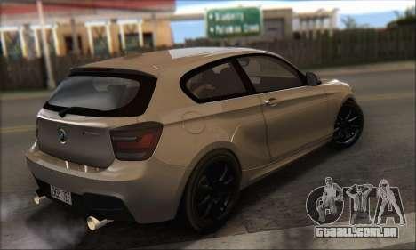 BMW M135i para GTA San Andreas esquerda vista