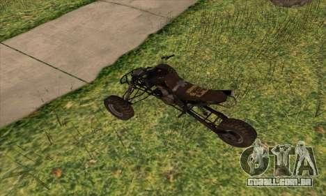 Trike from Ravaged para GTA San Andreas traseira esquerda vista