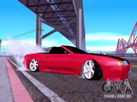 Elegy Cabrio HD para GTA San Andreas traseira esquerda vista