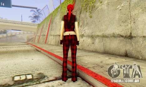 Red Girl Skin para GTA San Andreas terceira tela