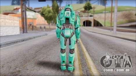 Masterchief Blue-Green from Halo para GTA San Andreas terceira tela