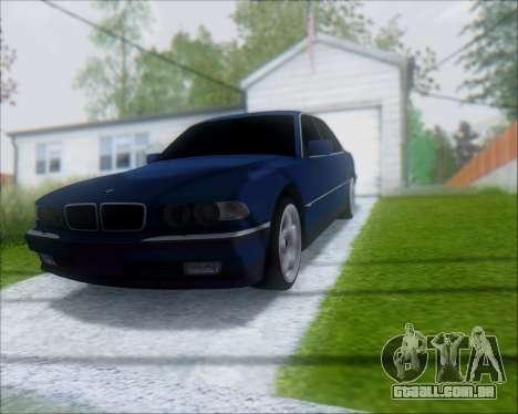 BMW 7 E38 para GTA San Andreas vista direita