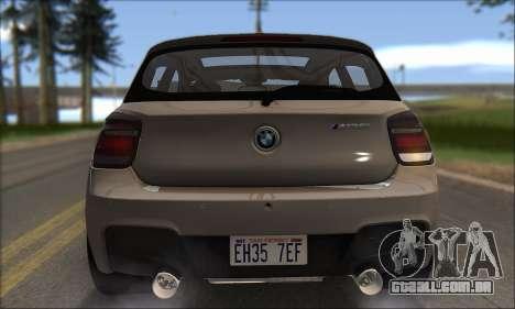 BMW M135i para GTA San Andreas vista superior