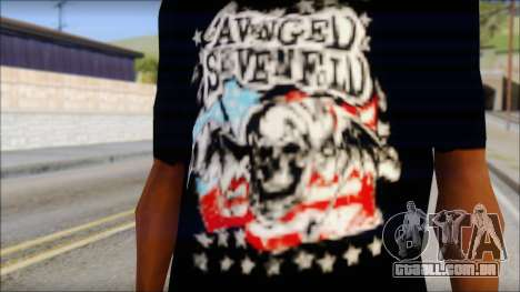 A7X Stars And Stripes T-Shirt para GTA San Andreas terceira tela