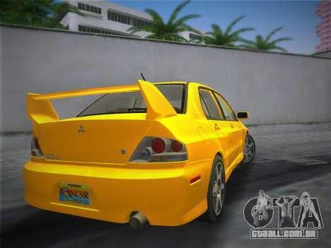 Mitsubishi Lancer Evolution 8 2004 para GTA Vice City deixou vista