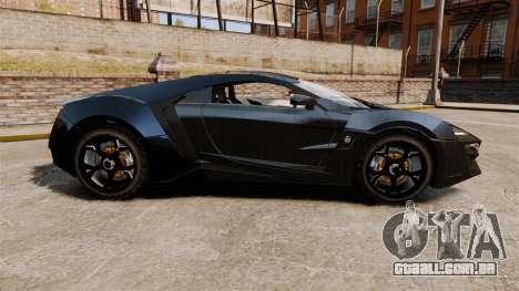 Lykan HyperSport Black para GTA 4 esquerda vista