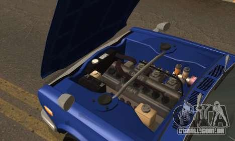 Nissan Skyline GC10 2000GT para GTA San Andreas vista interior