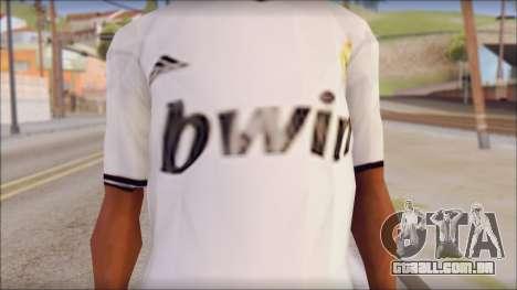 Real Madrid FC Jersey Mod para GTA San Andreas terceira tela