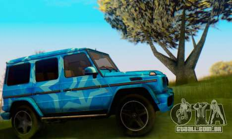 Mercedes-Benz G65 Blue Star para GTA San Andreas traseira esquerda vista