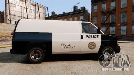 Vapid Speedo Los Santos Police [ELS] para GTA 4 esquerda vista