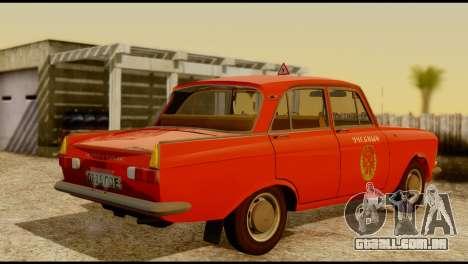 Moskvich U para GTA San Andreas vista traseira