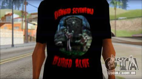 A7X Buried Alive Fan T-Shirt v1 para GTA San Andreas terceira tela
