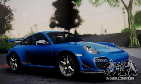 Porsche 911 GT3 RS4.0 2011 para GTA San Andreas traseira esquerda vista