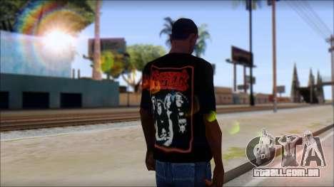 Kreator Shirt para GTA San Andreas segunda tela