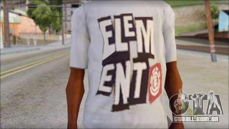 Element T-Shirt para GTA San Andreas terceira tela