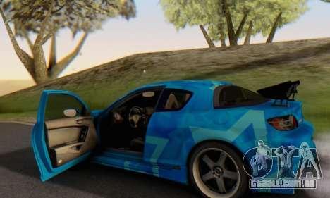 Mazda RX-8 VeilSide Blue Star para GTA San Andreas vista inferior