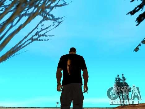 T-Shirt Paul Walker para GTA San Andreas terceira tela