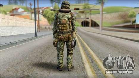 Forest UDT-SEAL ROK MC from Soldier Front 2 para GTA San Andreas segunda tela