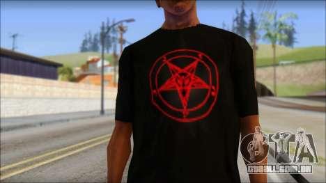 Red Pentagram Shirt para GTA San Andreas terceira tela
