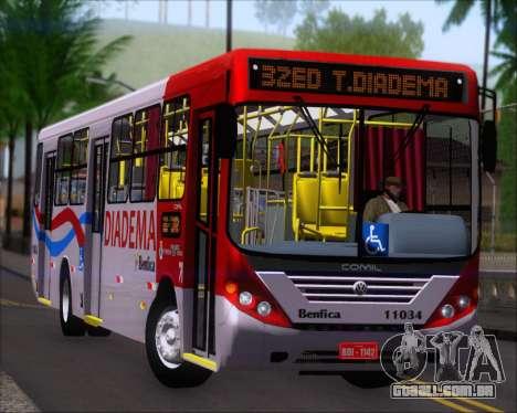 Comil Svelto 2008 Volksbus 17-2 Benfica Diadema para GTA San Andreas esquerda vista