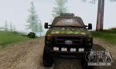 Ford F-250 Camo Lifted 2010 para GTA San Andreas vista superior