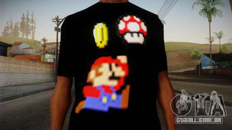 Mario Bros T-Shirt para GTA San Andreas terceira tela