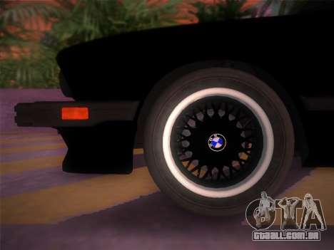 BMW 535i US-spec e28 1985 para GTA Vice City vista direita