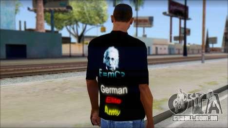 German Elite Army Emcore Fan T-Shirt para GTA San Andreas segunda tela