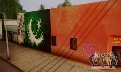 Pakistani Flag Graffiti Wall para GTA San Andreas segunda tela