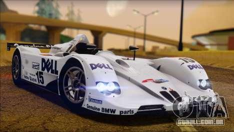 BMW 14 LMR 1999 para GTA San Andreas traseira esquerda vista