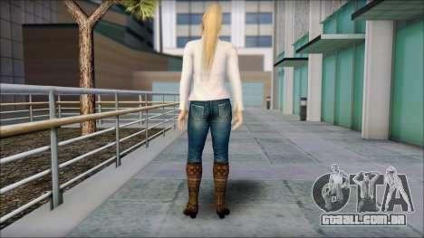 Sarah from Dead or Alive 5 v1 para GTA San Andreas segunda tela