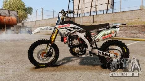 Yamaha YZF-450 v1.5 para GTA 4 esquerda vista
