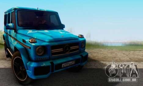 Mercedes-Benz G65 Blue Star para GTA San Andreas esquerda vista