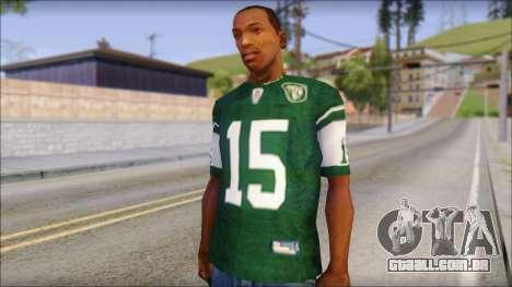 New York Jets 15 Tebow Green T-Shirt para GTA San Andreas