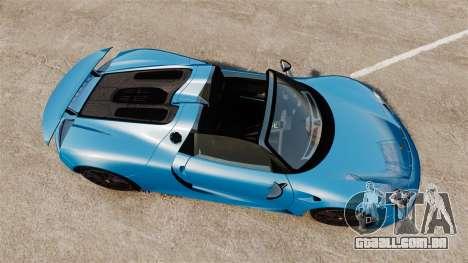 Porsche 918 2013 para GTA 4 vista direita
