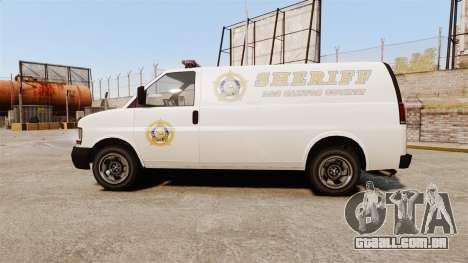 Vapid Speedo Los Santos County Sheriff [ELS] para GTA 4 esquerda vista