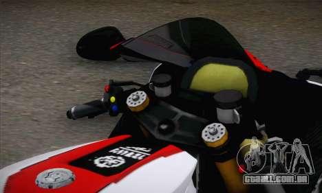 Yamaha R1 2011 para GTA San Andreas traseira esquerda vista