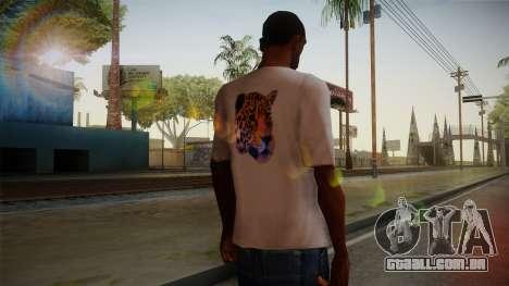 Leopard Shirt White para GTA San Andreas segunda tela