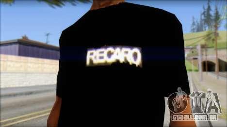Recaro T-Shirt para GTA San Andreas terceira tela