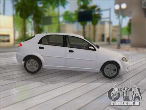Chevrolet Lacetti para GTA San Andreas vista interior