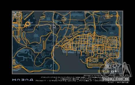 Mapa de corrida estilo de Rastreamento Mapa para GTA San Andreas segunda tela