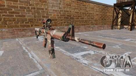 Automático carabina MA Floresta Camo para GTA 4