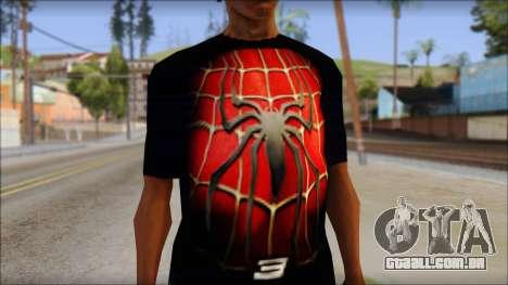 Spiderman 3 T-Shirt para GTA San Andreas terceira tela