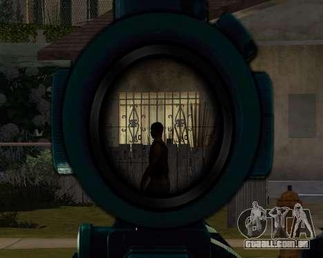 Sniper skope mod para GTA San Andreas terceira tela